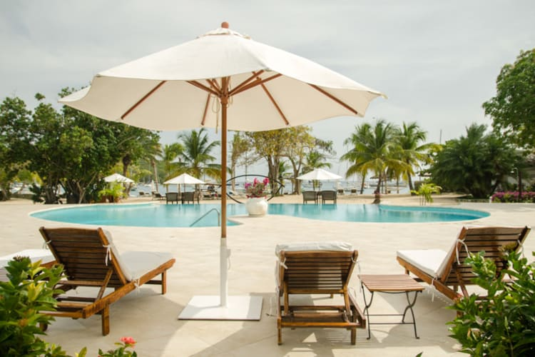 Inn At English Harbour Pool And Sun Beds