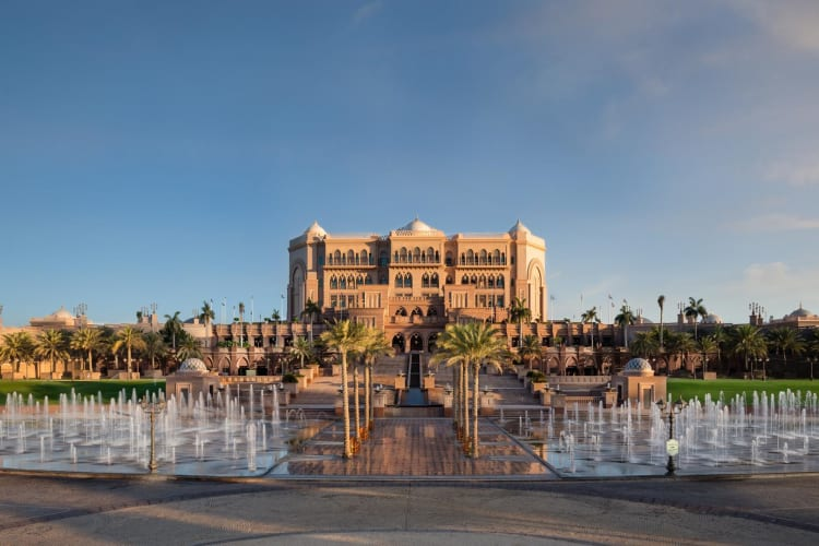 Emirates Palace Fountains Day