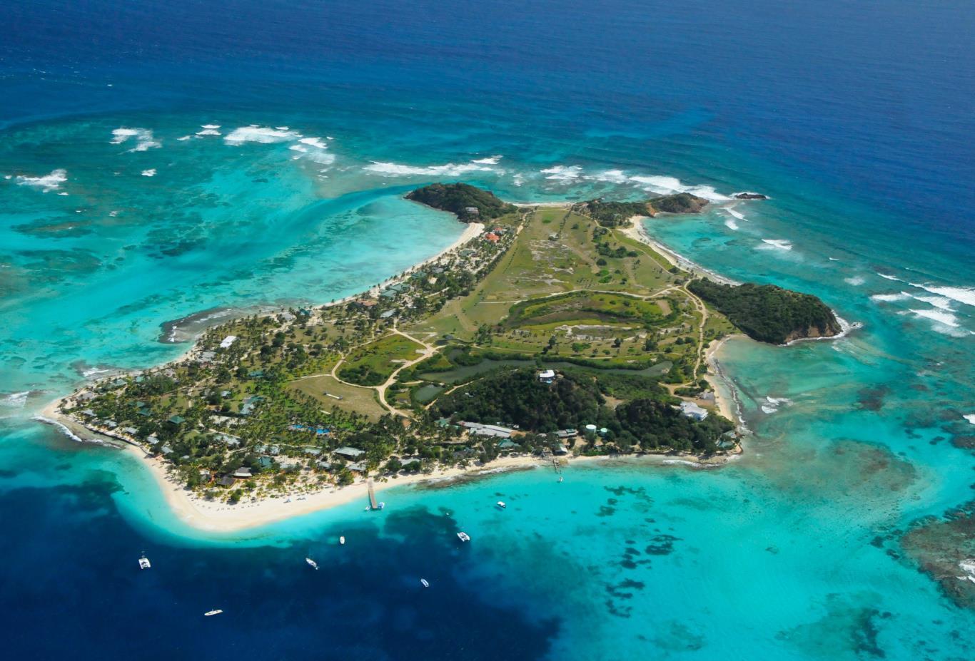 Palm Island Ariel View