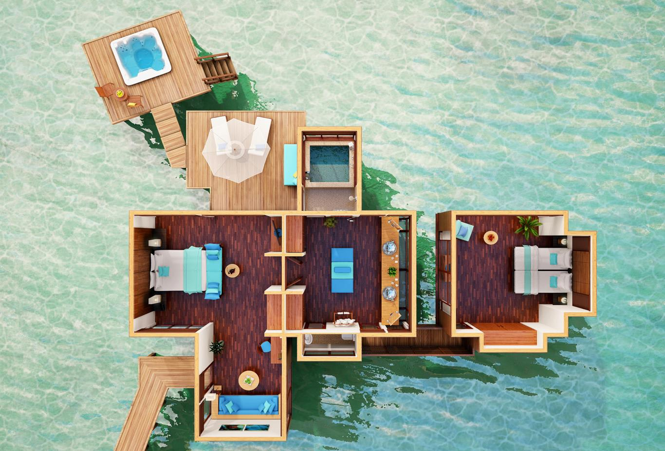 Family Water Villa Floorplan