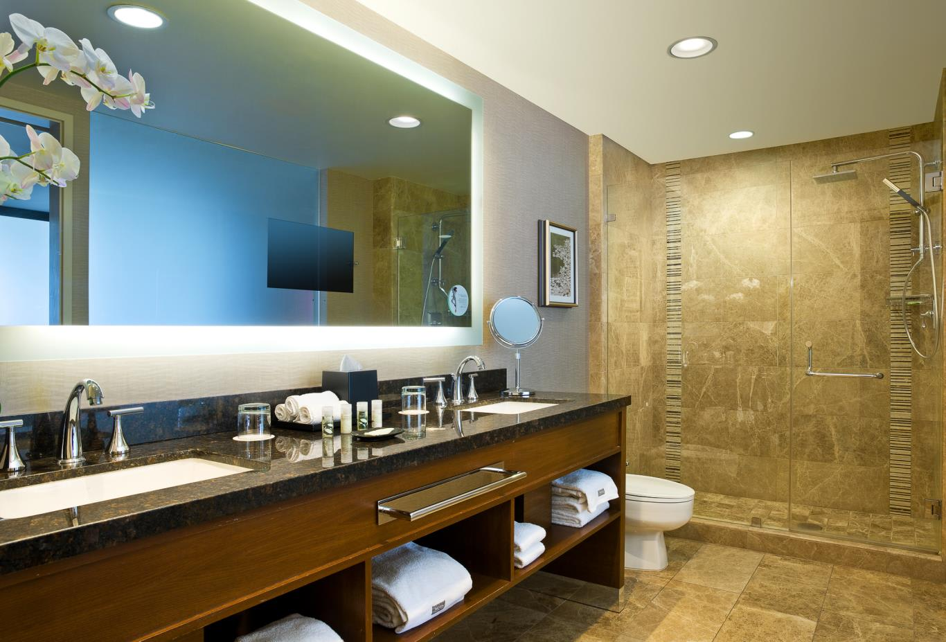 Bridgeview Suite master bathroom