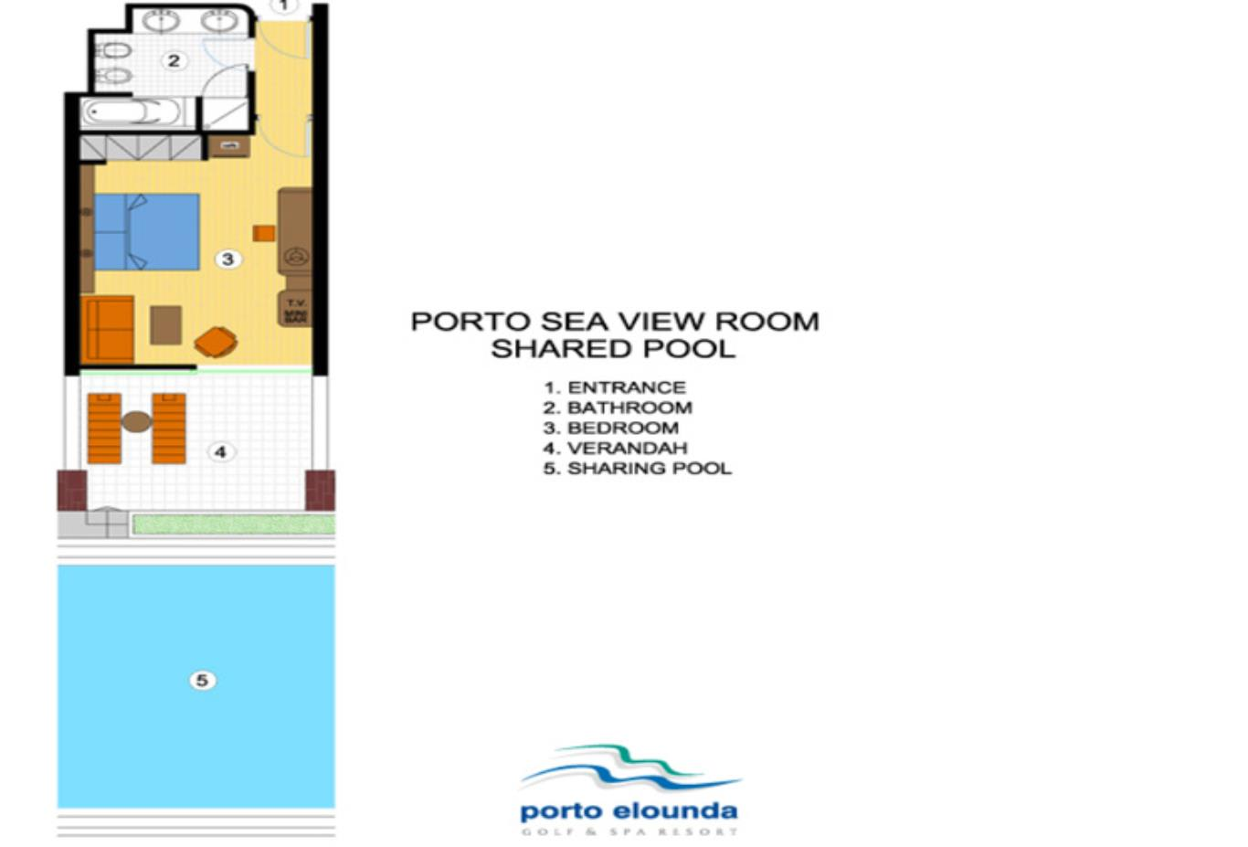 Porto Sea View Room Shared Pool floorplan