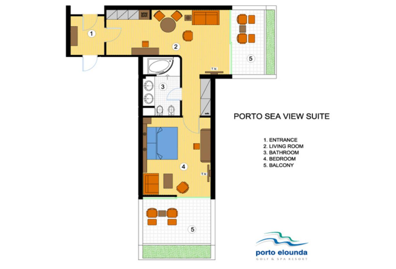 Porto Sea View Suite floorplan