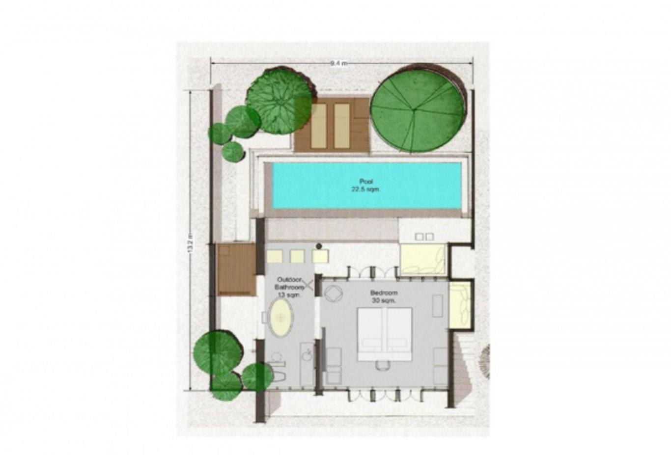 Garden Pool Villa floorplan