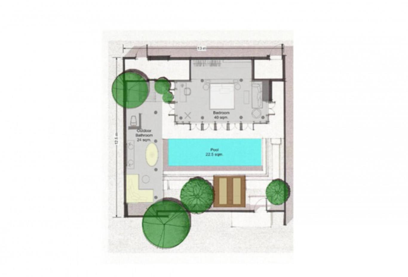 Sala pool villa floorplan
