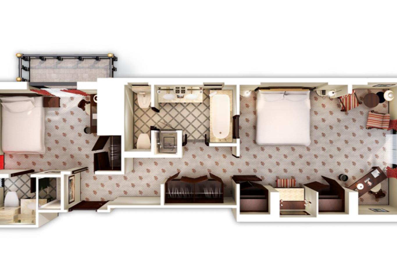 Family Suite 3DFloorPlan