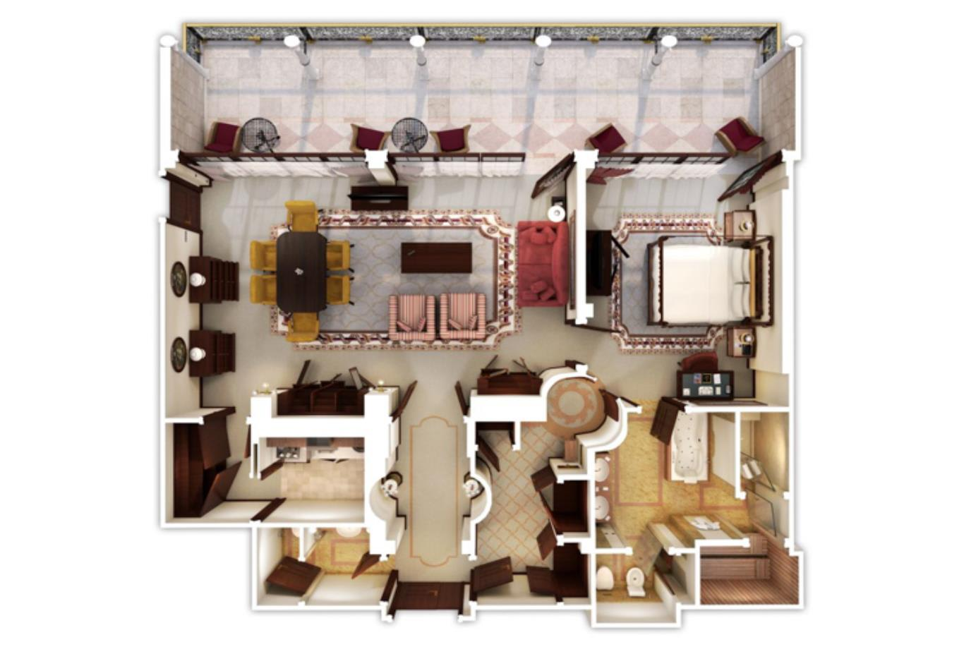 Royal Suite 3DFloorPlan