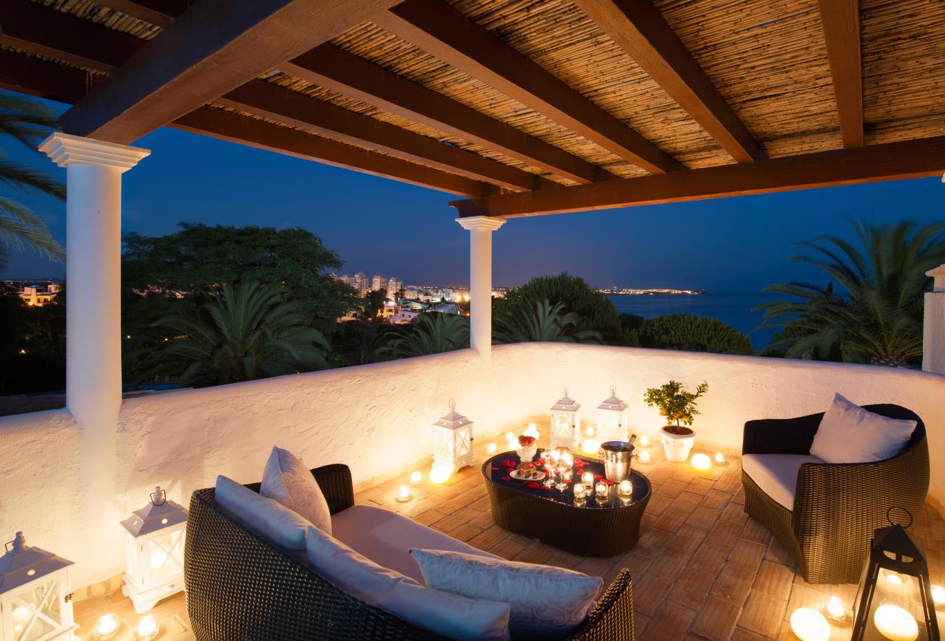 Oasis Premium Rooftop terrace night