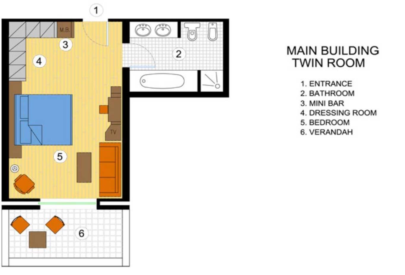 Twin Room floorplan