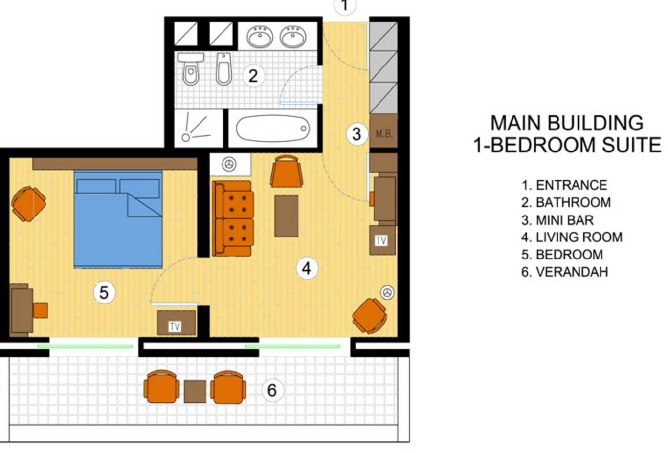 One Bedroom Suite floorplan