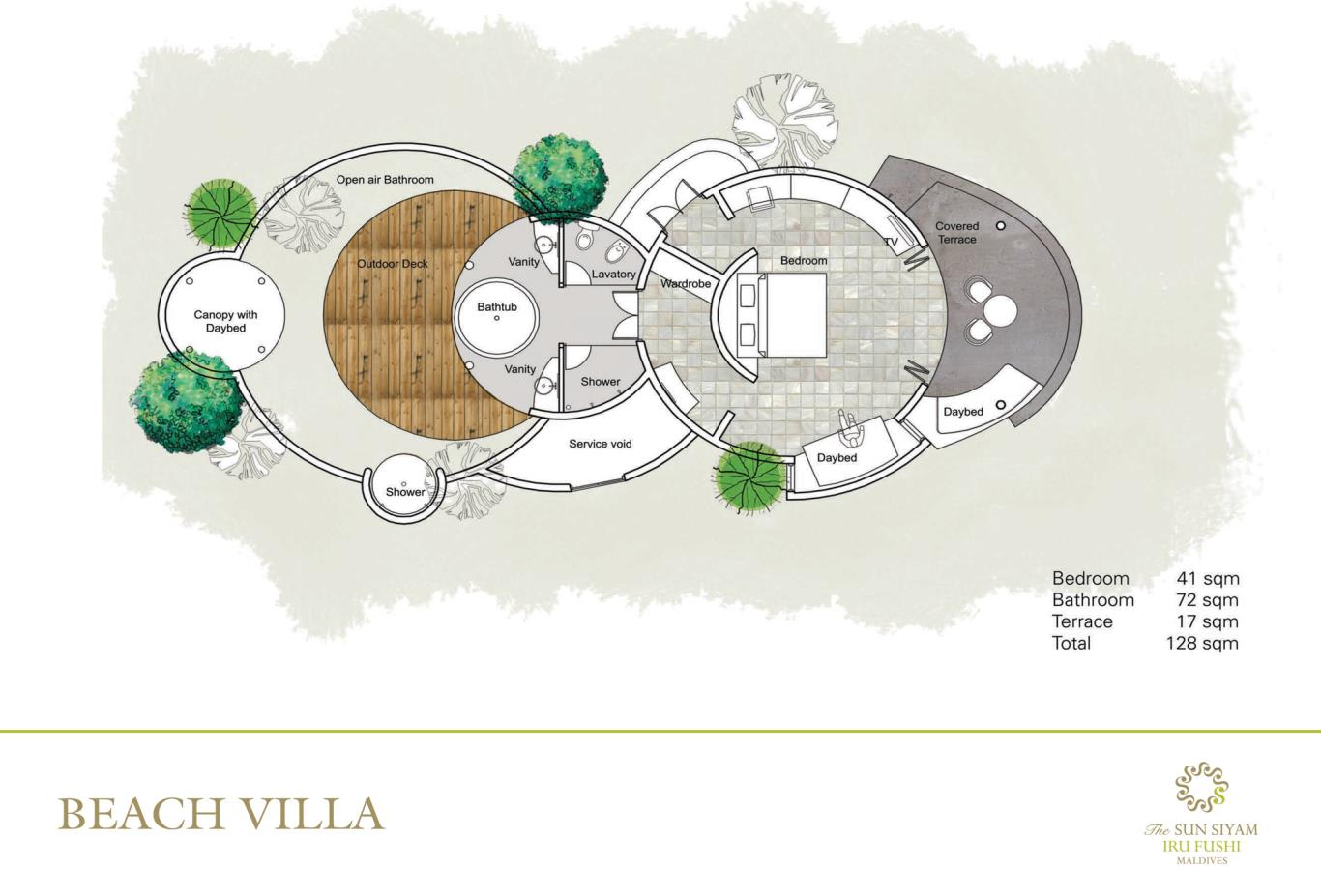 Beach Villa Floorplan