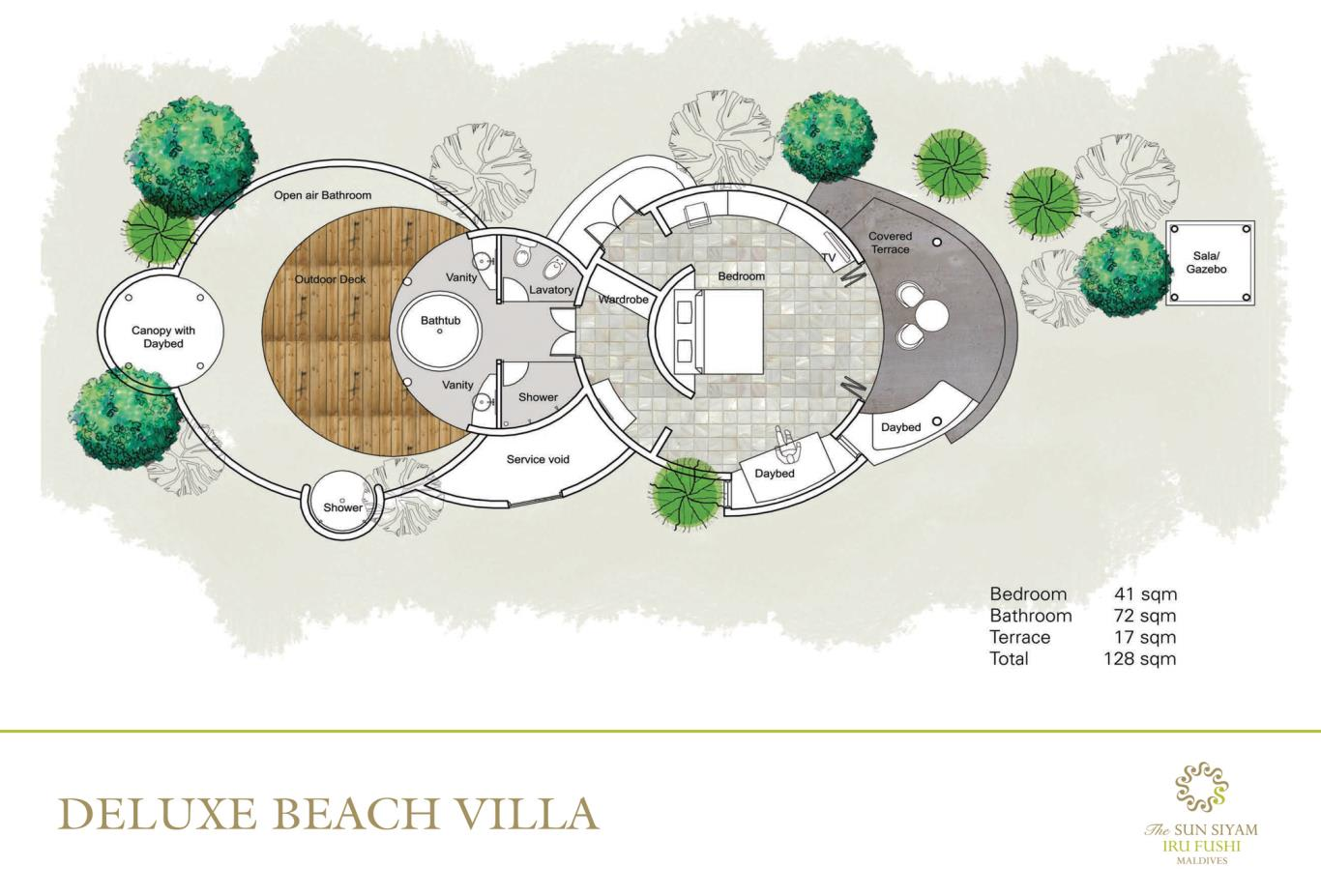 Deluxe Beach Villa Floorplan