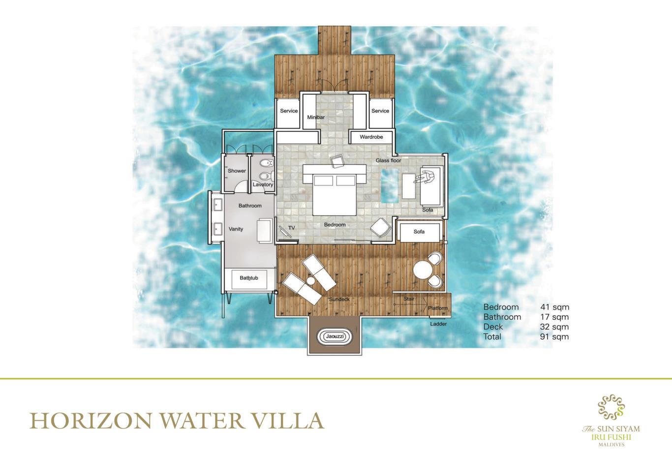 Horizon Water Villa Floorplan