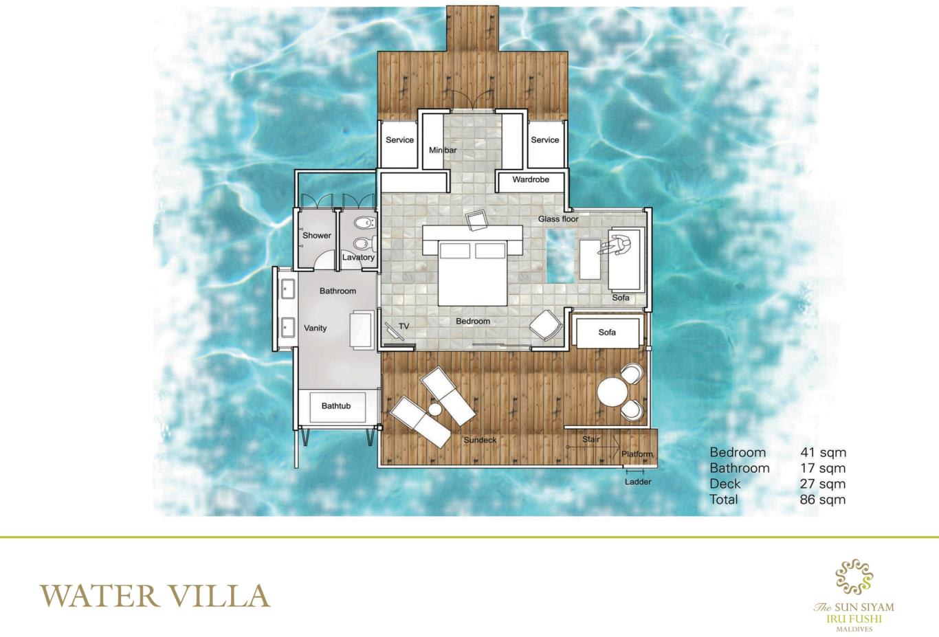 Water Villa Floorplan