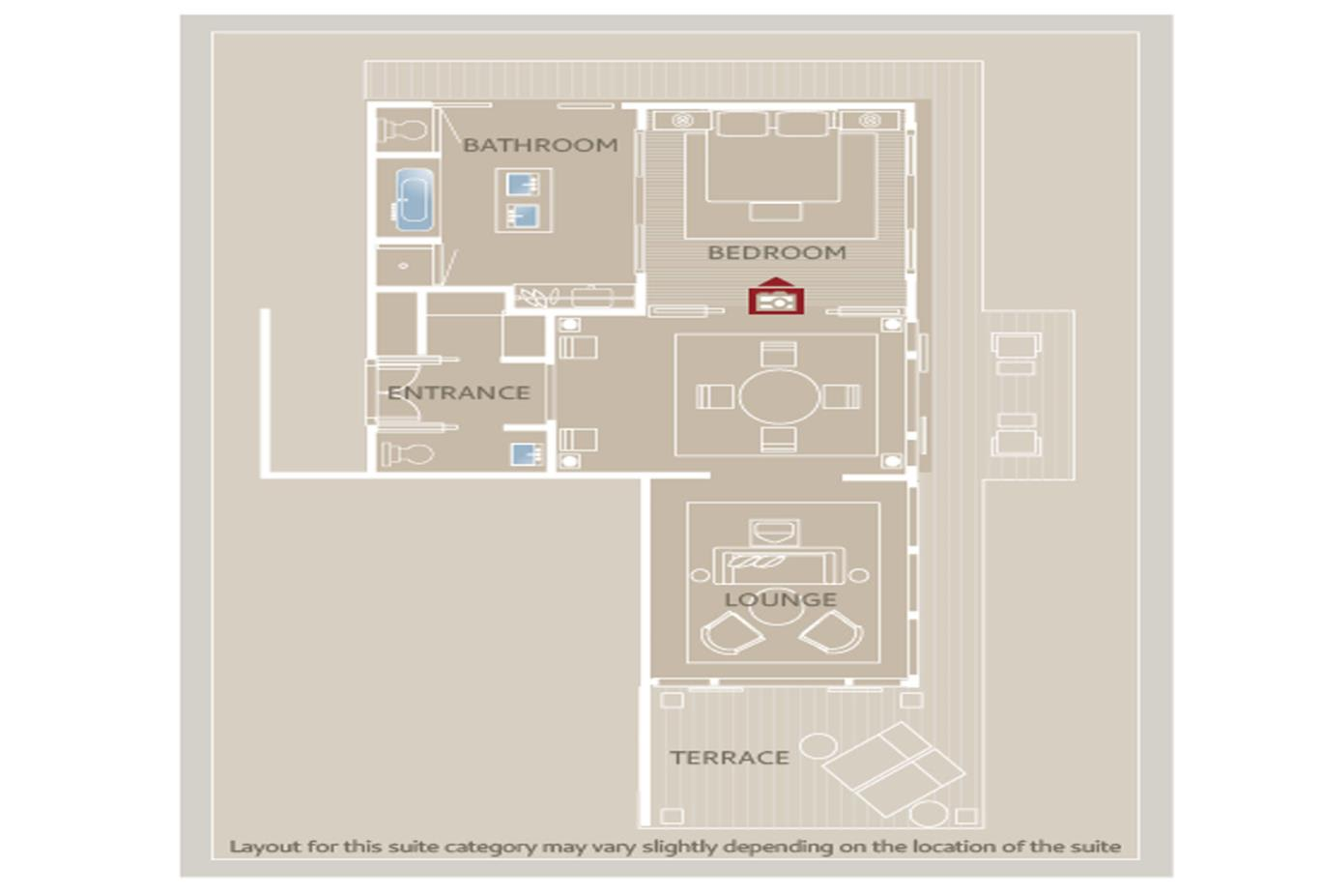 Floorplan 2 bed suite