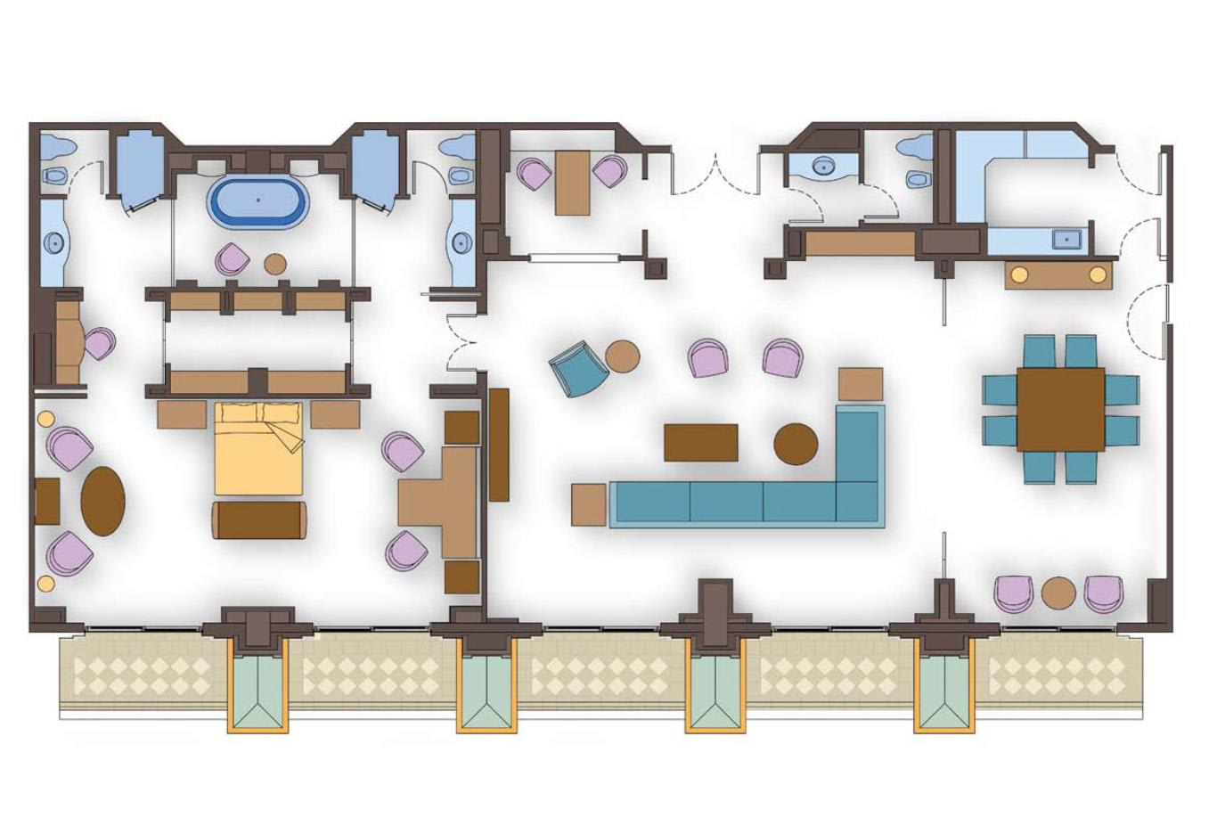 Regal Suites Floorplan