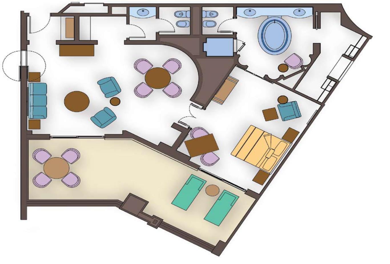 Terrace Suite Floorplan