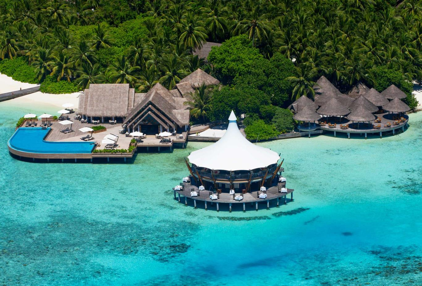 Maldives Restaurants Aerial