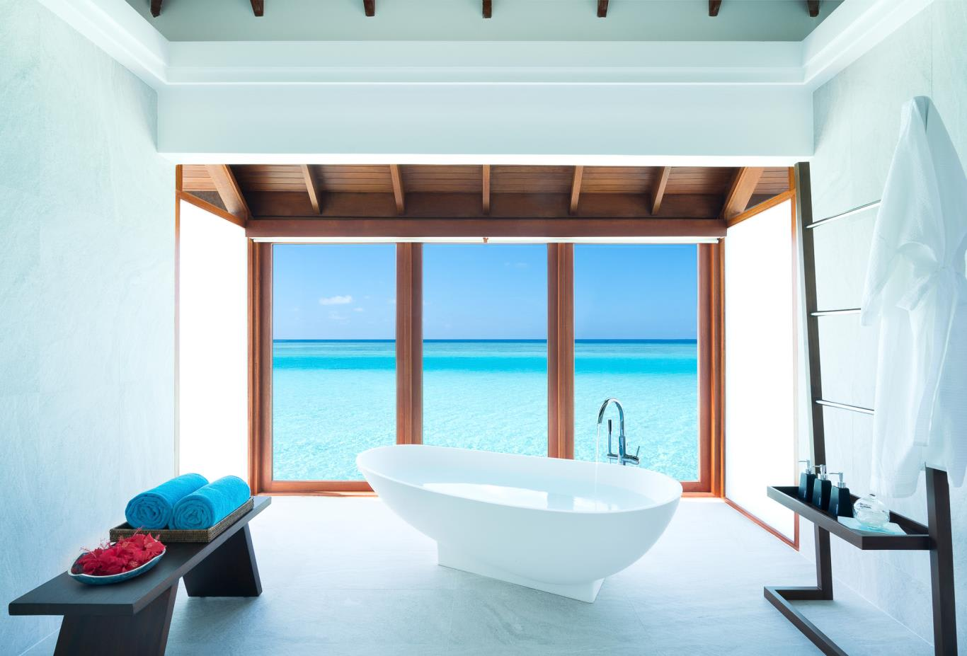 Overwater Suite bath view