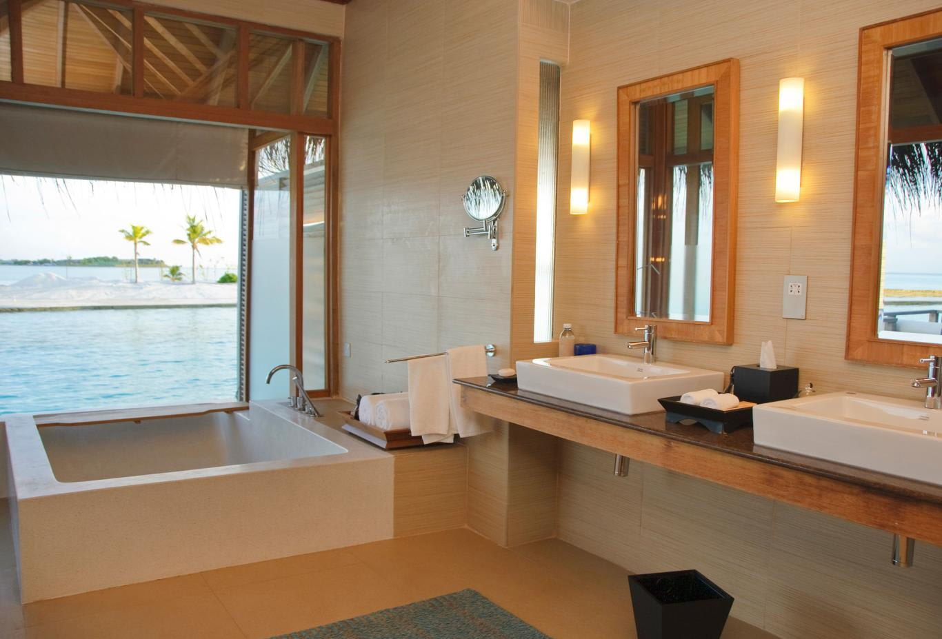 Deluxe Over Water Bungalow Bathroom