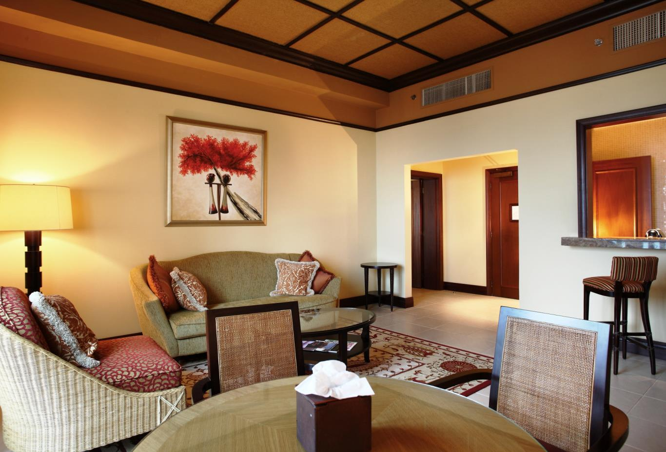 Anantara Suite living room and kitchen