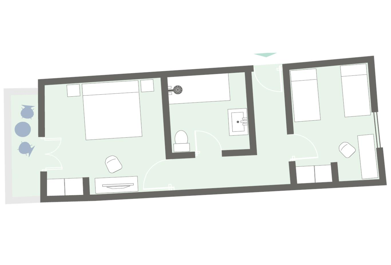 Family Suite floorplan example