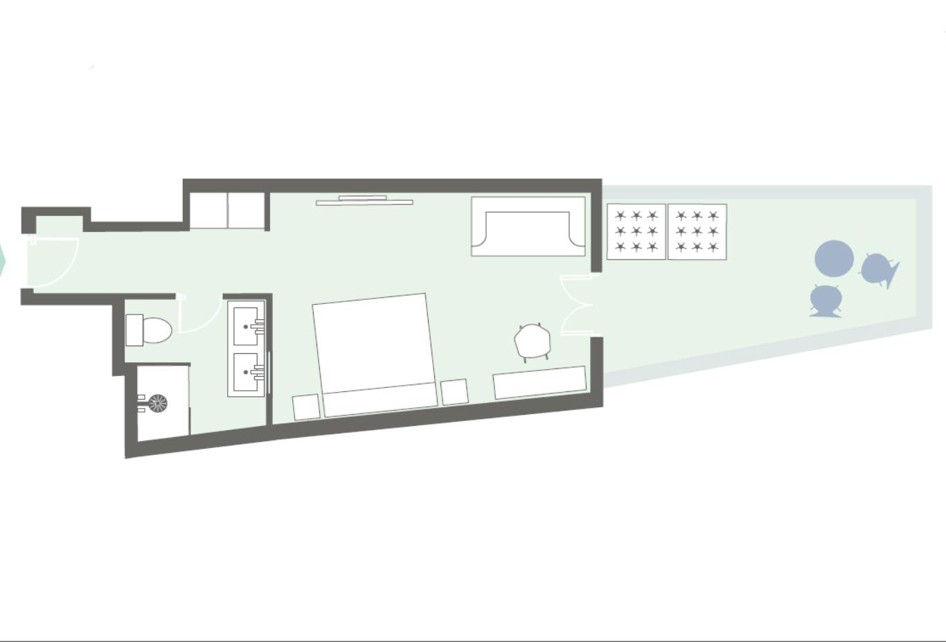 Junior-suite-floorplan example