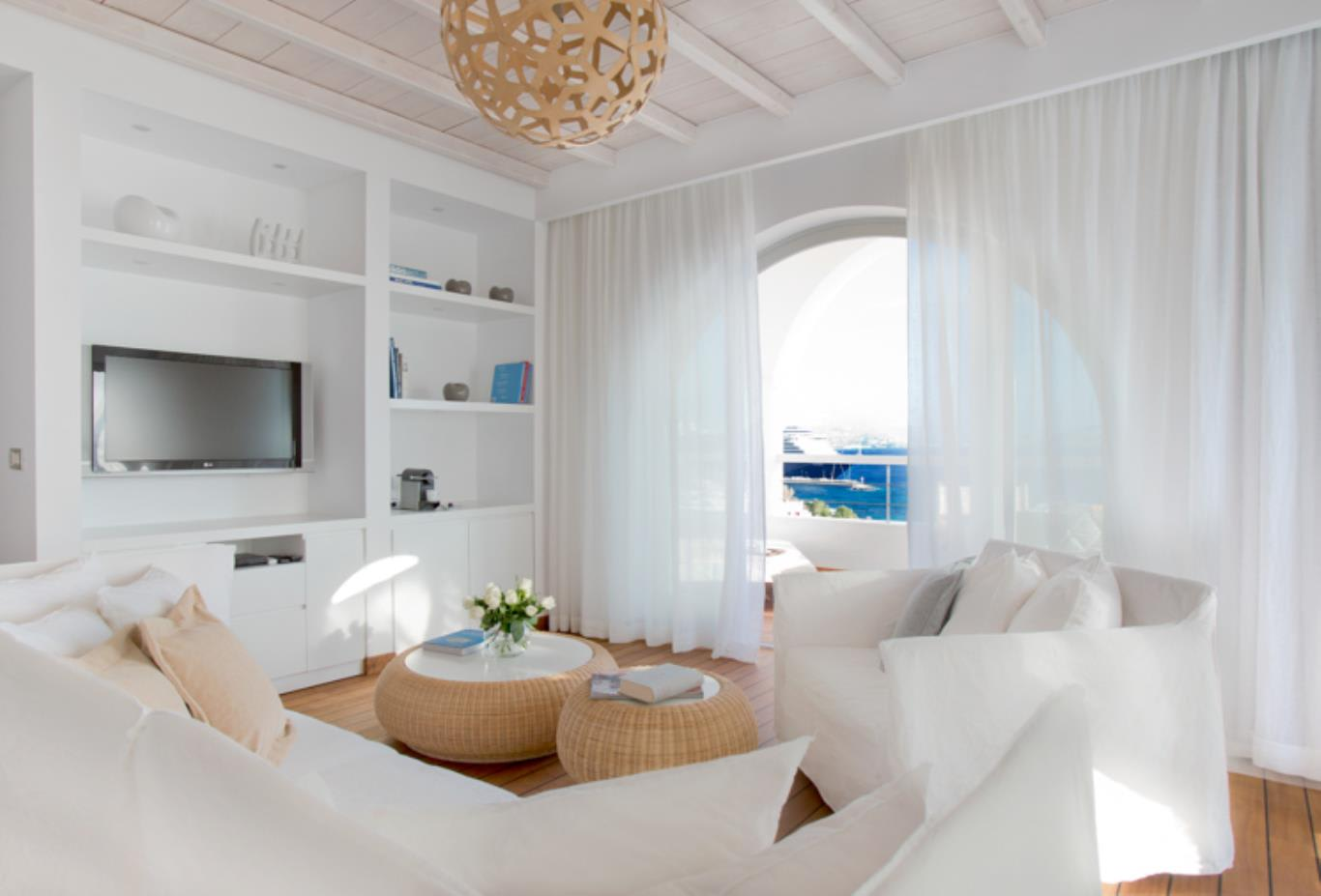 Mykonos Suite 2 bedroom living room