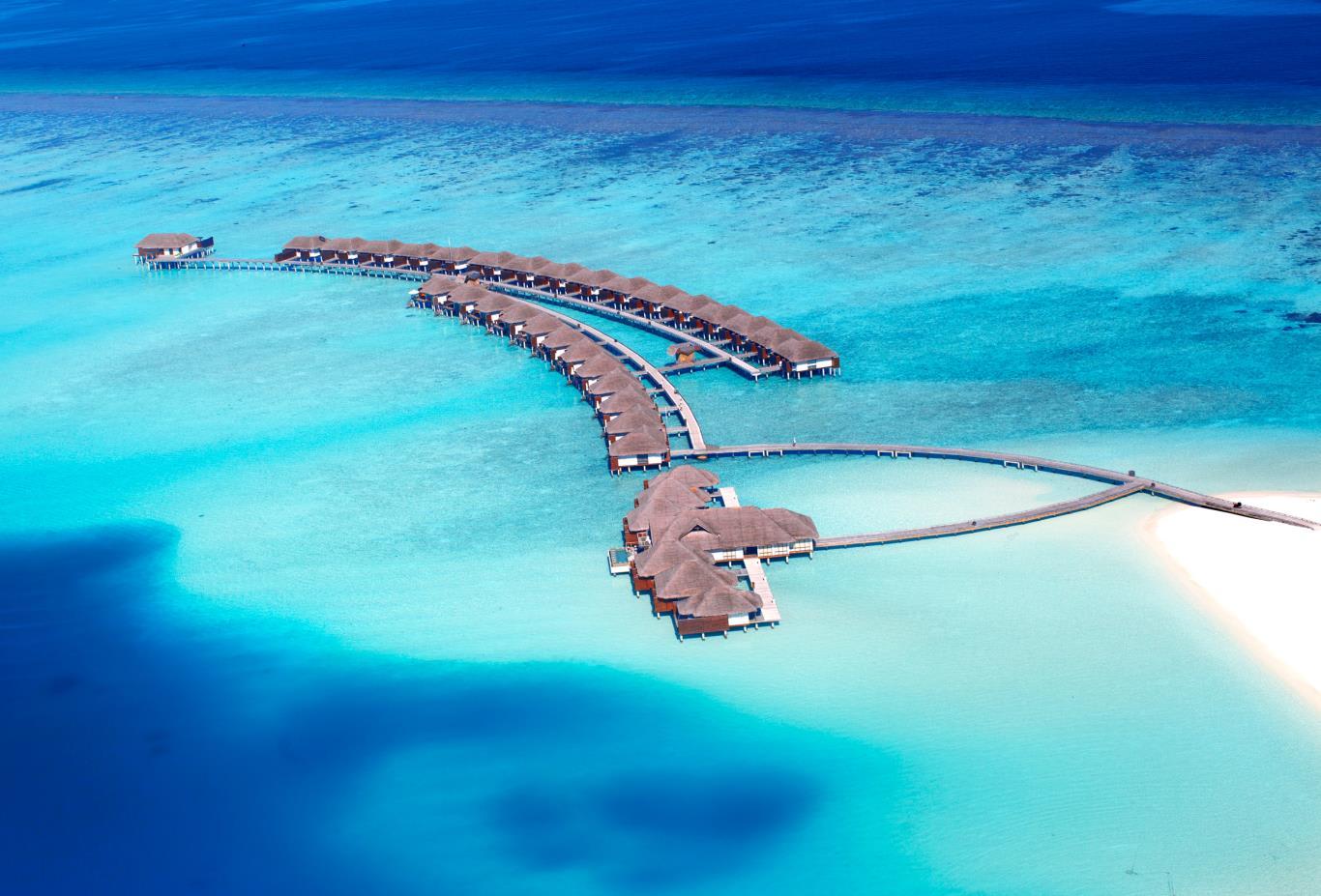 Aerial Water Villa
