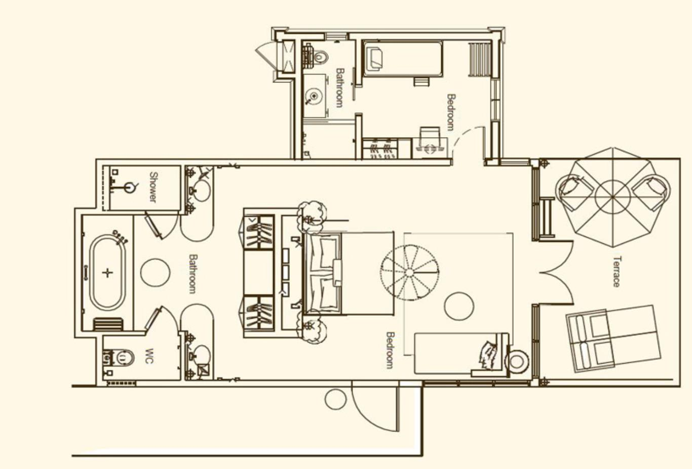 Family Suite Floorplan