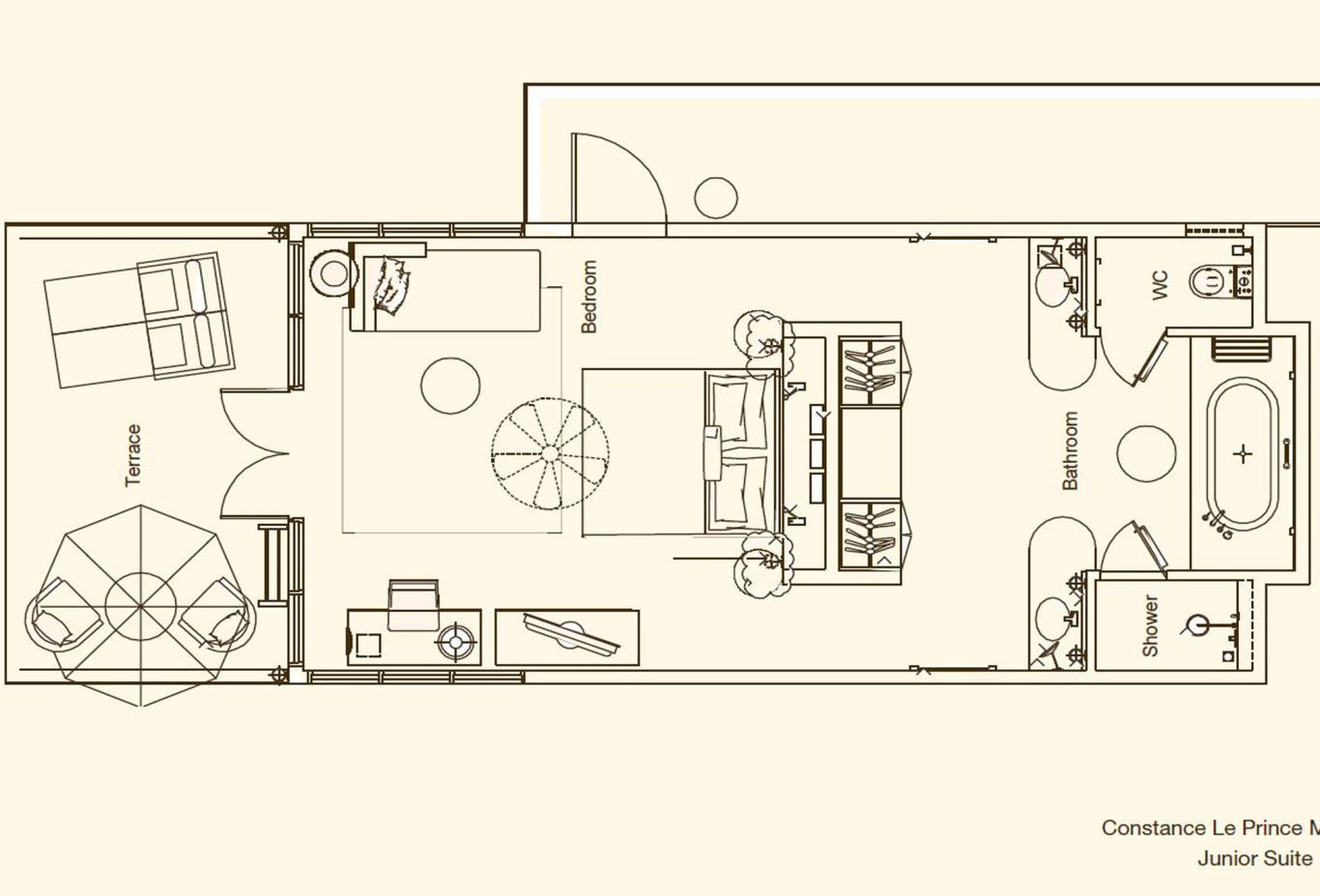 Junior Suites Floorplan