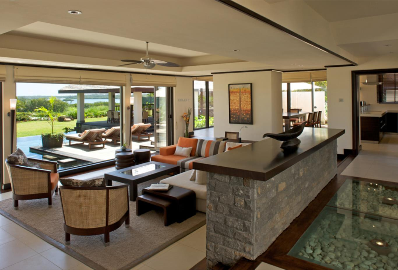 Prestige Villa living and outdoor space