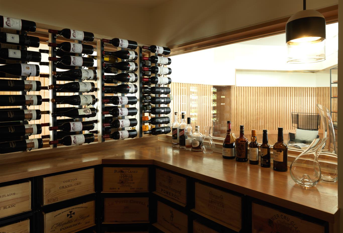 Driftwood Bar Wine Cellar
