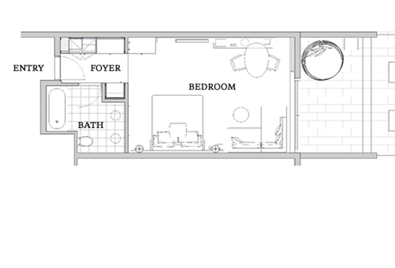 Terrace Room Floorplan