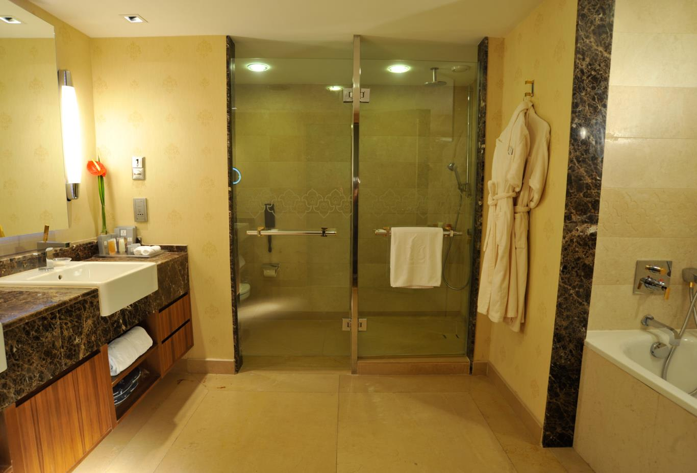 One bedroom suite bathroom