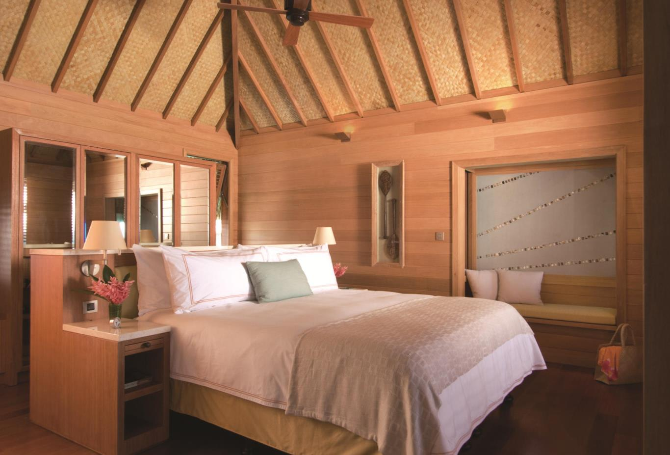 Overwater Bungalow Suite Bedroom