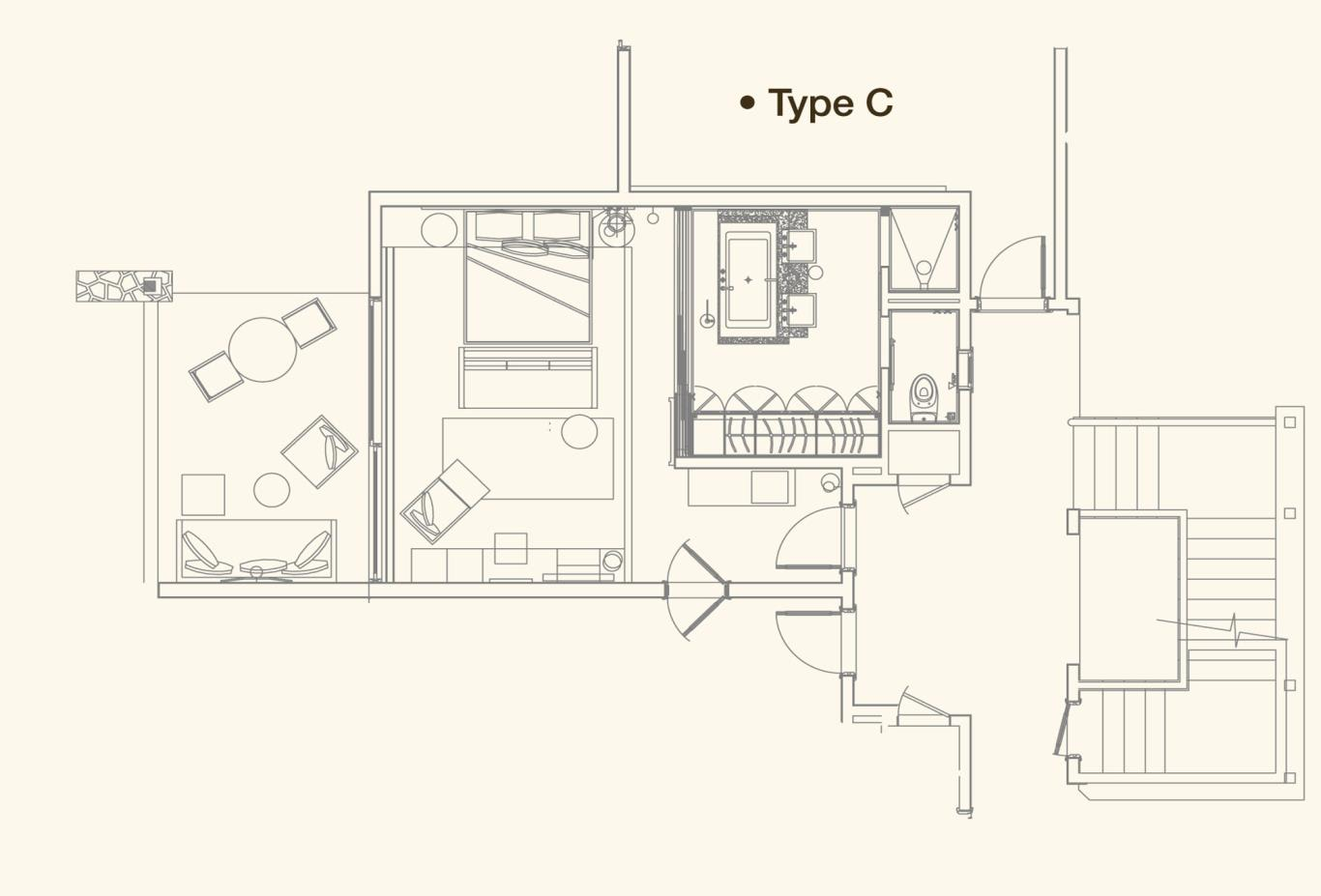 Junior Suite Floorplan C