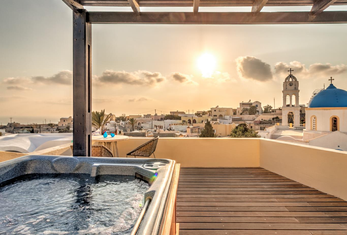 Aegean Suite Jacuzzi with stunning views