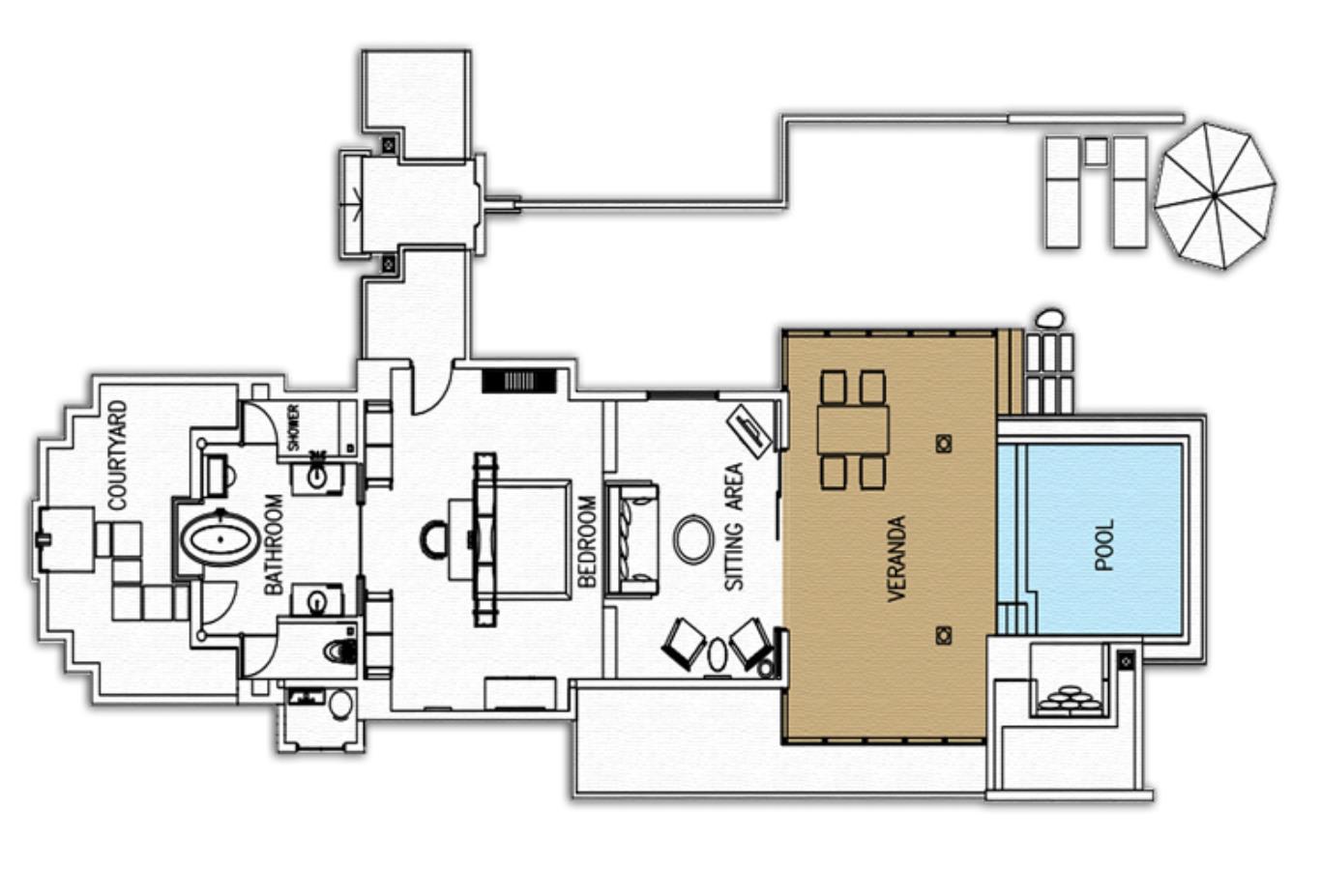 Sunset Beach Suite Floorplan
