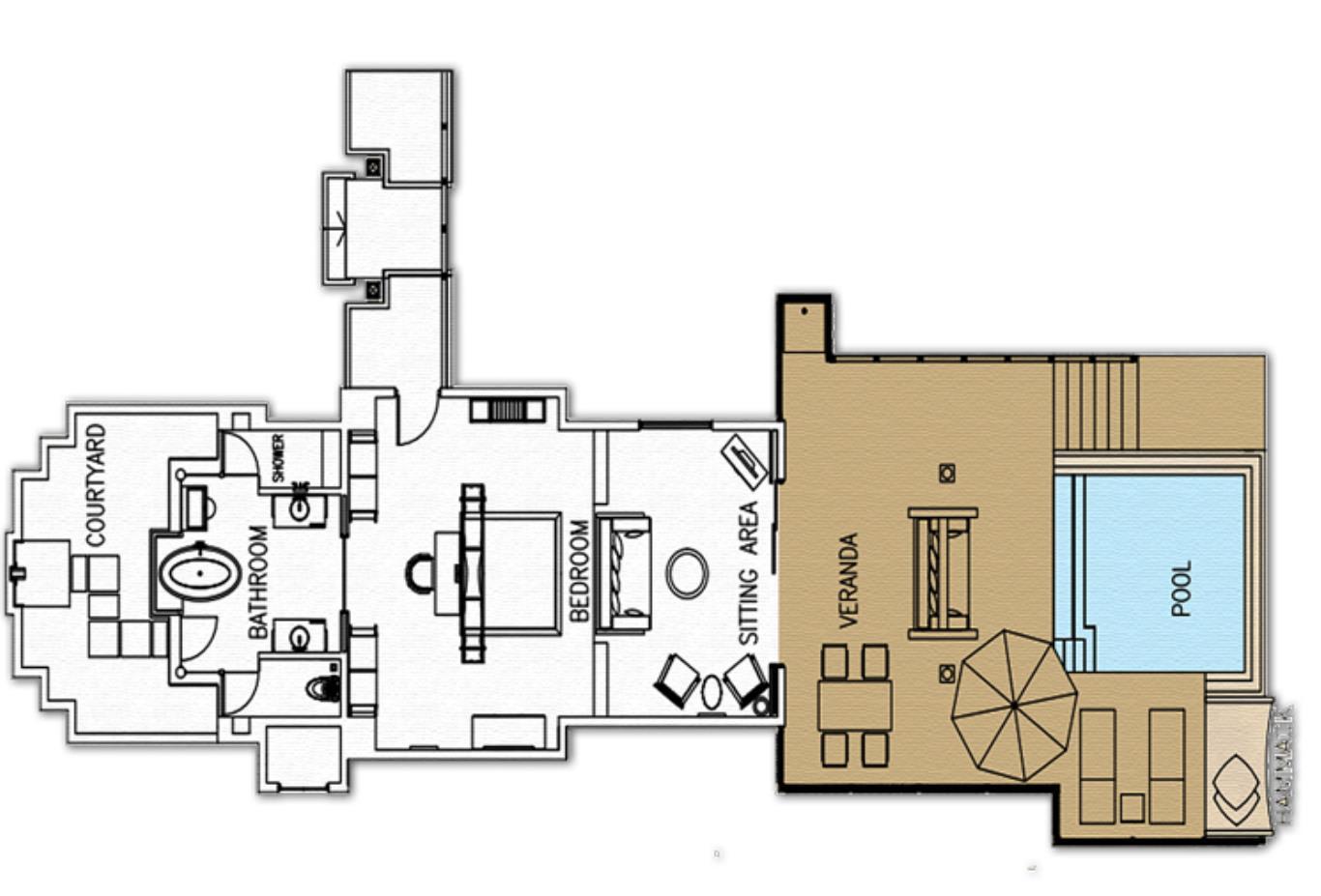 Sunset Lagoon Suite Floorplan