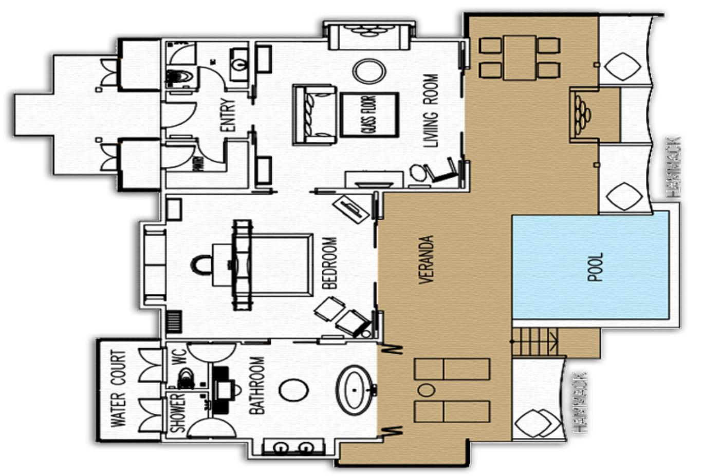 Sunset Ocean Suite Floorplan