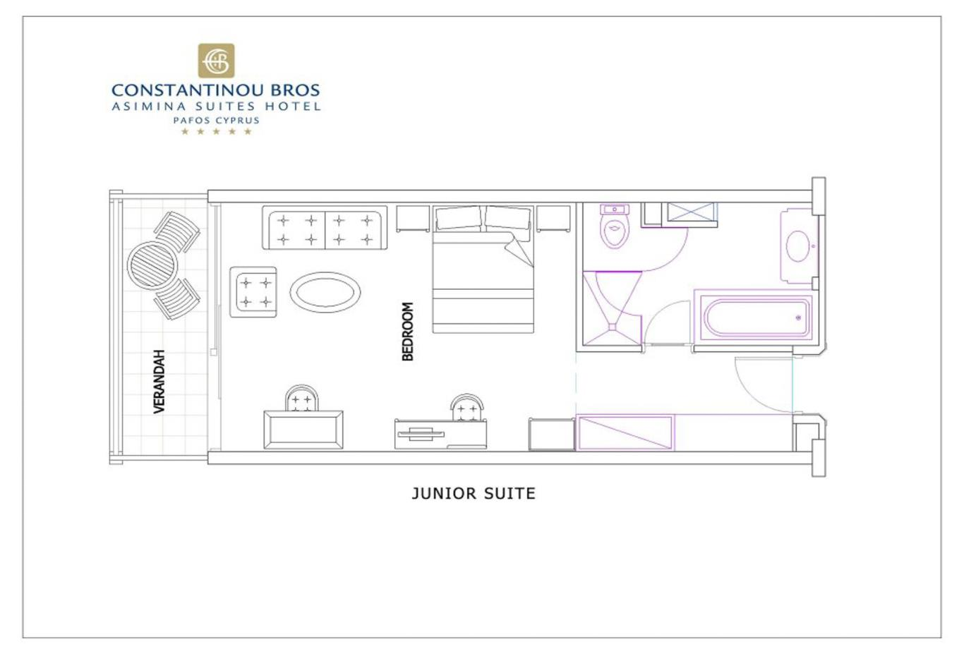 Junior Suite floorplan