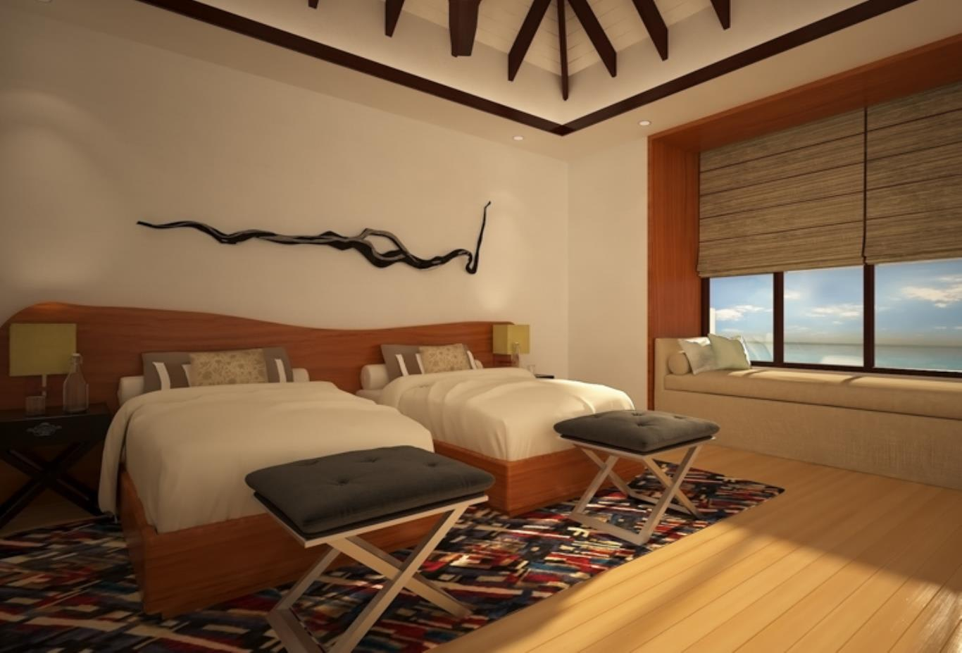 Royal Residence villas twin bedroom