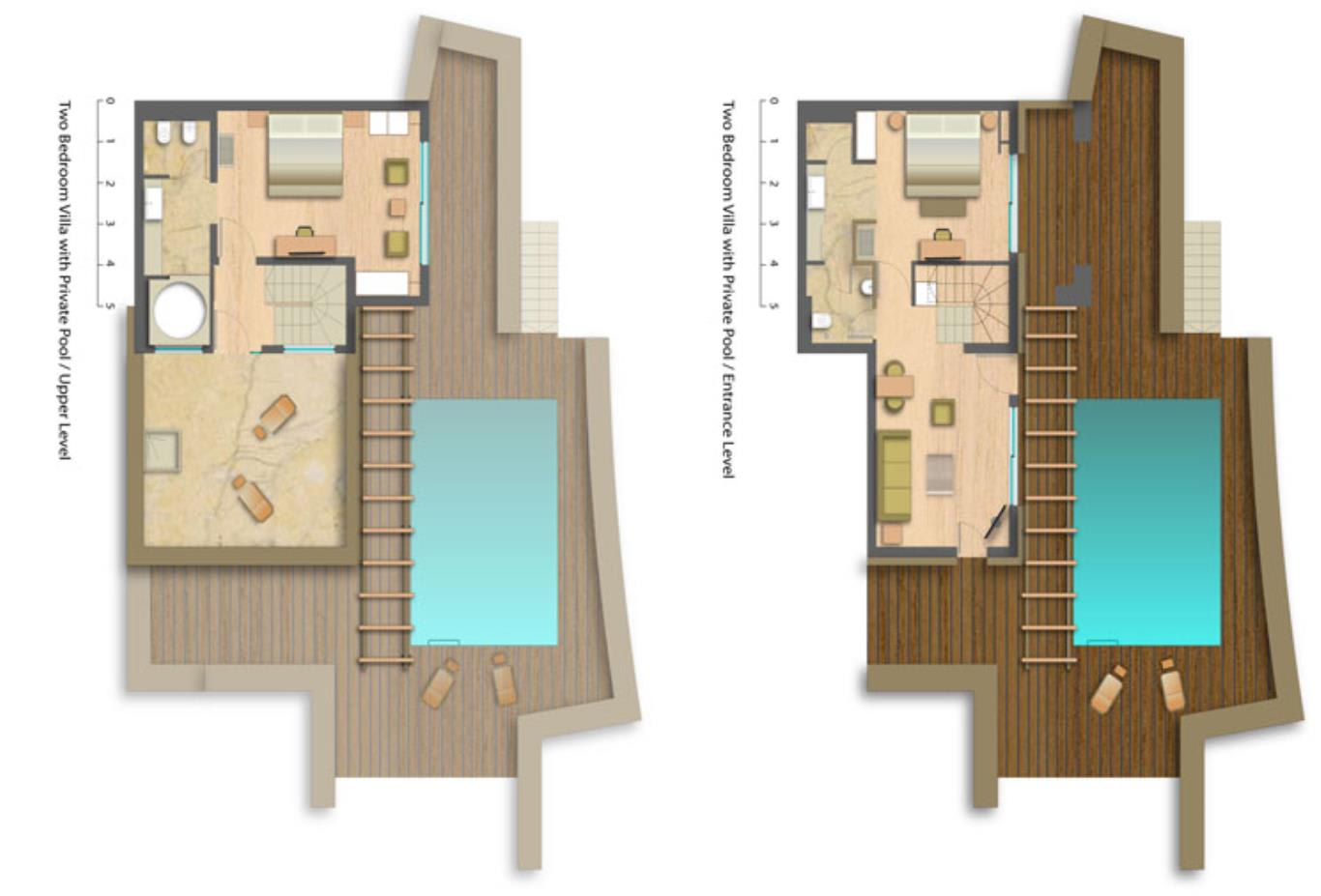 Floorplan TwoBedroom-villa-with-private-Pool