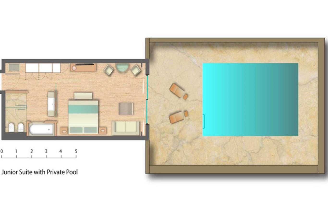 Floorplan Junior Suite with Private Pool