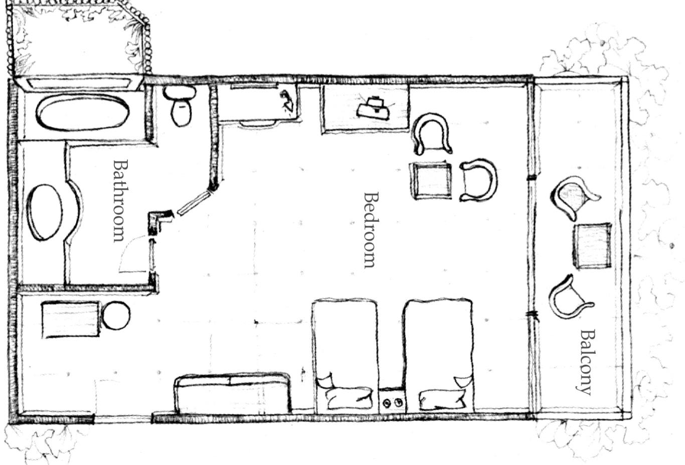 Floorplan Deluxe-beach-front-room