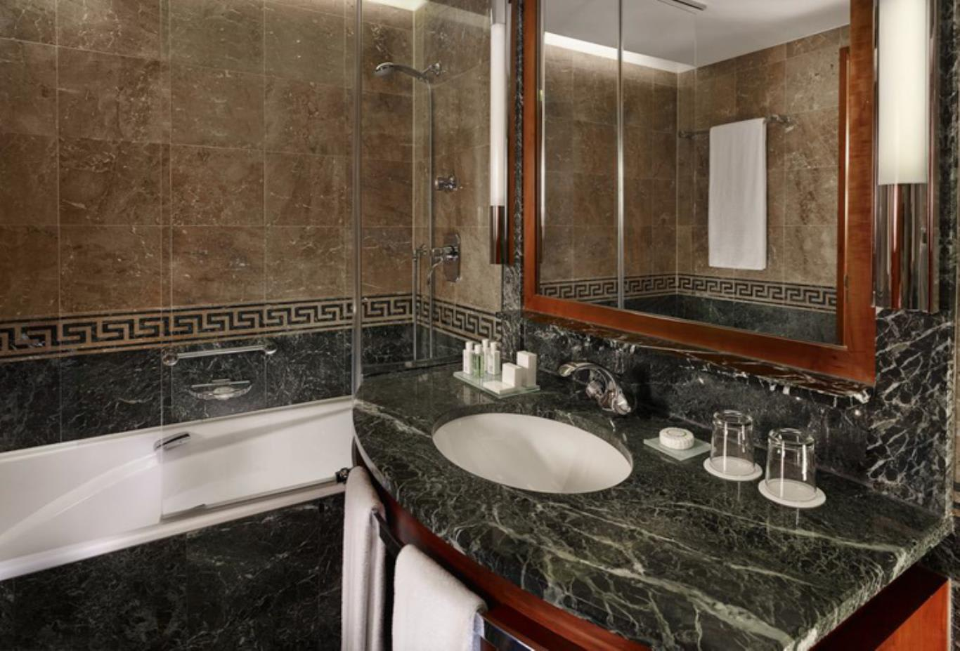 Classic Double Room marble bathroom