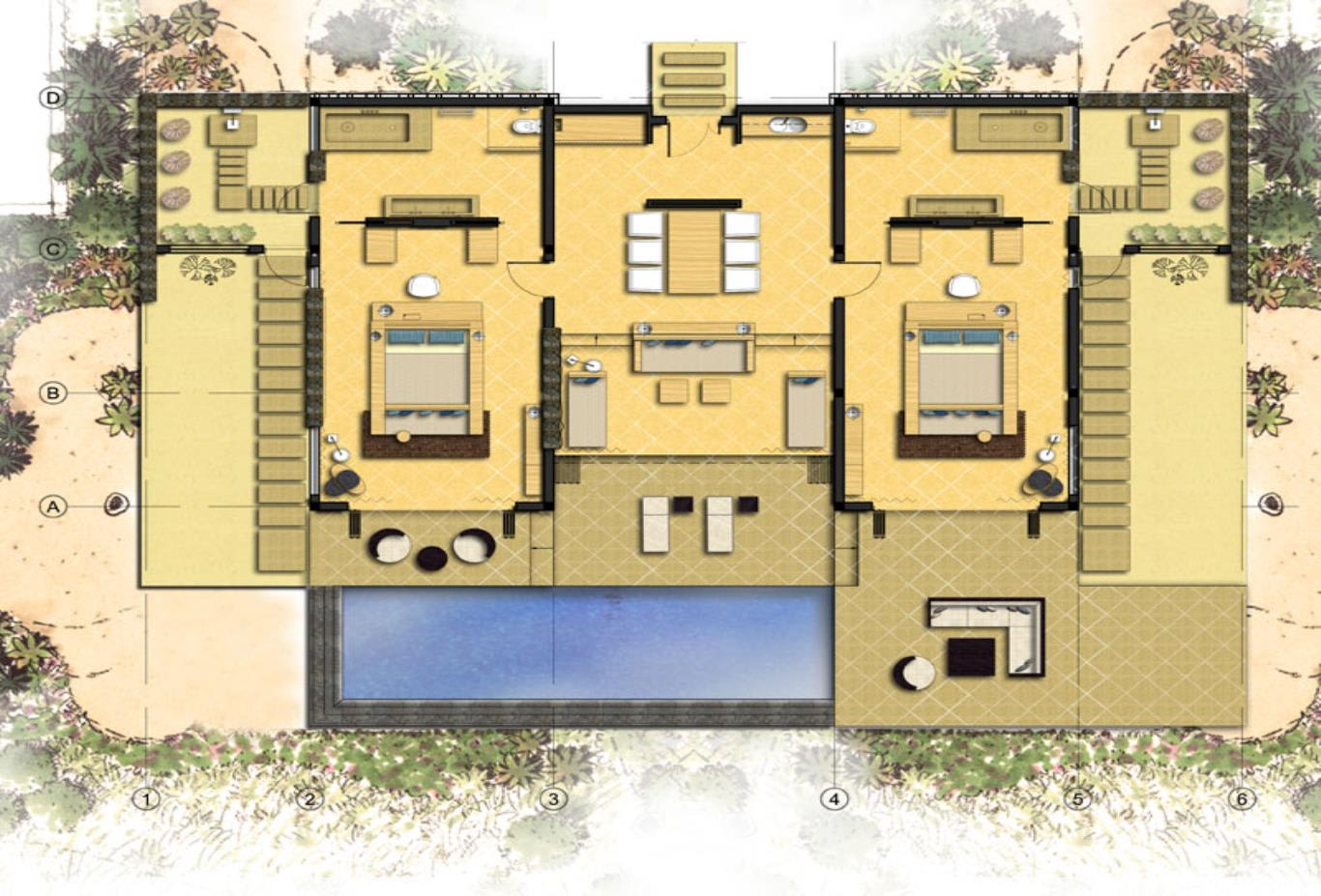 Floorplan Mia suite
