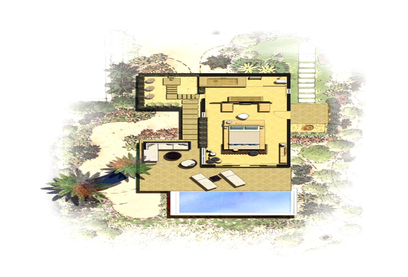 Floorplan Villa Beachfront