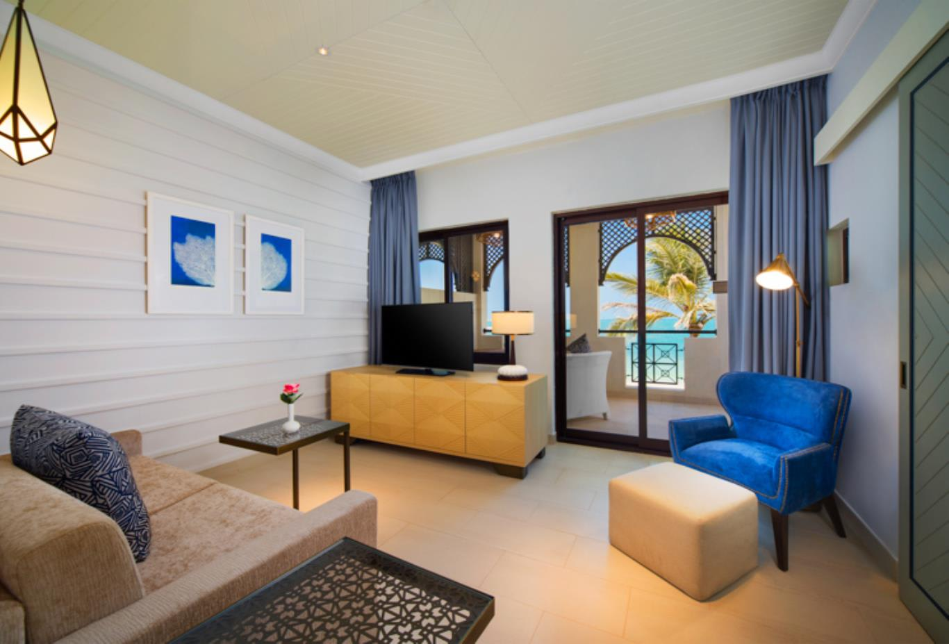 Junior Suite Sea Front Villa Living Room